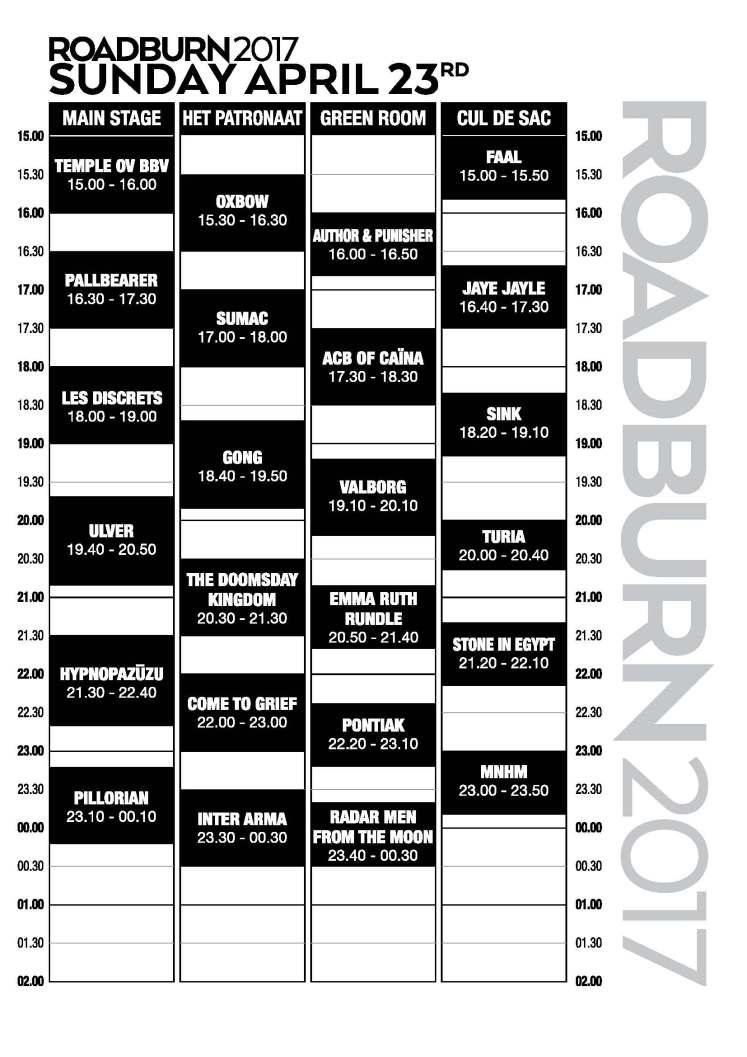 Roadburn-festival-2017-zondag